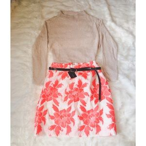 J Crew neon orange skirt